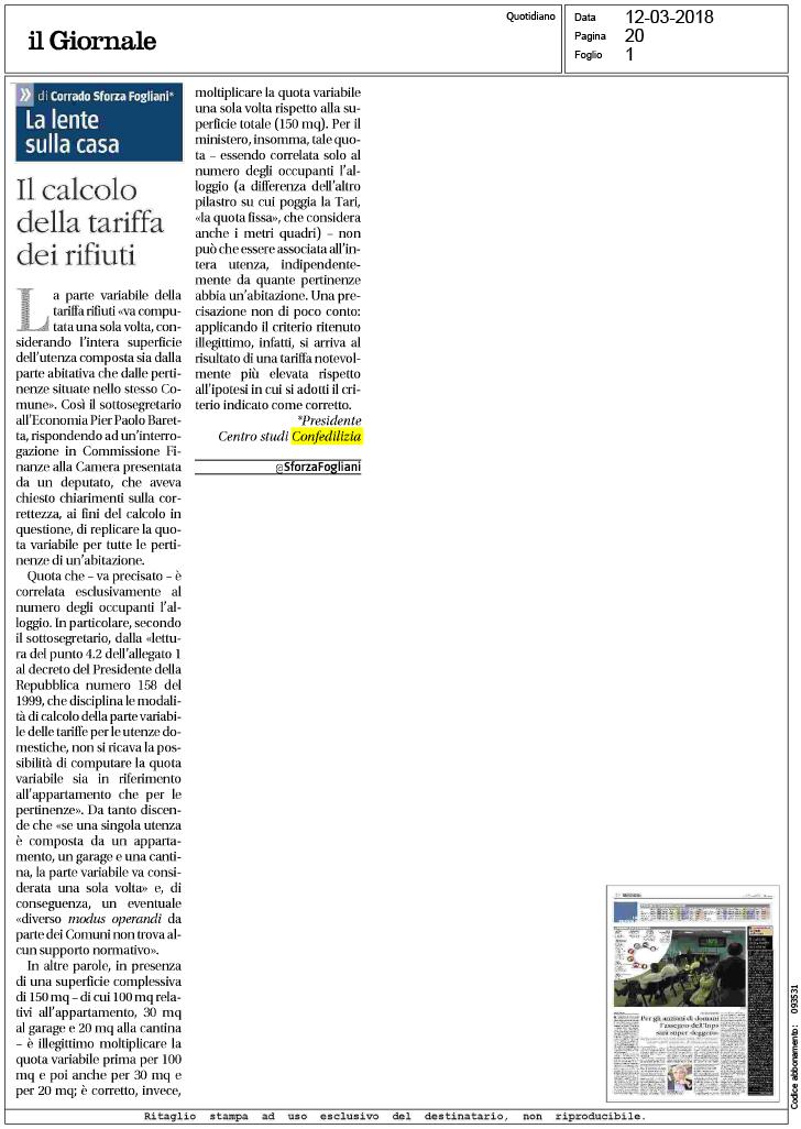 Il giornale 12 il calcolo della tariffa dei for Calcolo istat locazioni