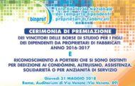 31 maggio 2018: cerimonia di premiazione Ebinprof