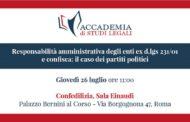 Responsabilità amministrativa degli enti ex d.lgs 231/01 e confisca: il caso dei partiti politici