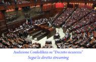"""Audizione Confedilizia su """"Decreto sicurezza"""""""