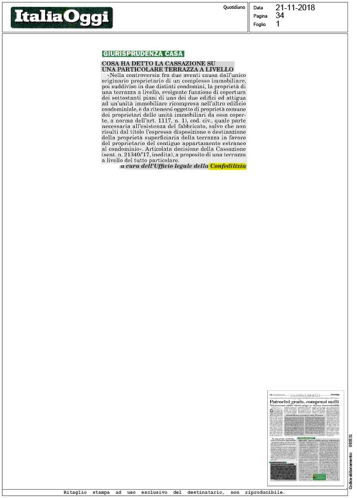 Terrazza A Livello E Fabbricati Condominiali Attigui