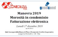 Manovra 2019 – Morosità in condominio – Fatturazione elettronica