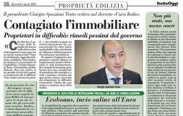 Italia Oggi – Aprile 2020